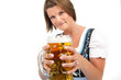 canvas print picture - Bier trinken