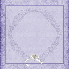 purple damask background with bouquet