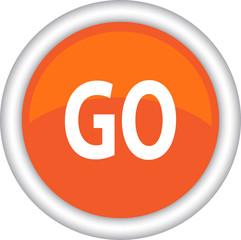 Круглый векторный знак с надписью GO