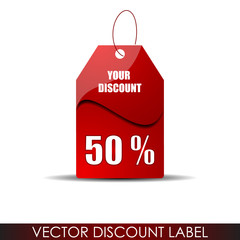 Sale or discount tag for price list
