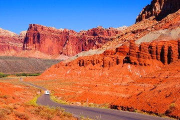 Red mountains of Capital Reef National Park, Utah, USA