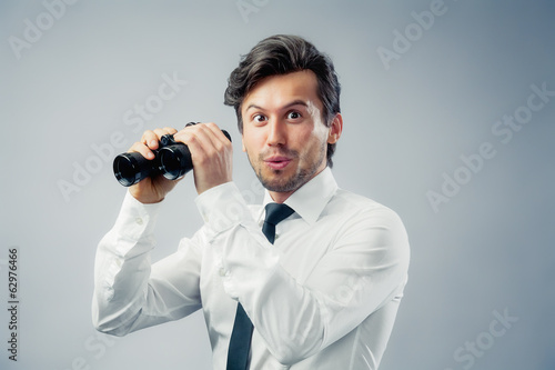 Man with binocular