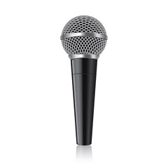 Modern microphone vector illustration