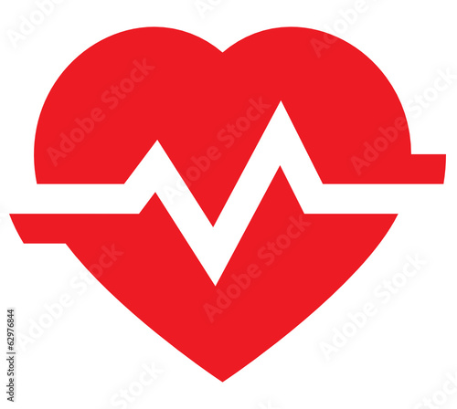 Heart pulse vector icon