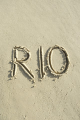 Rio Brazil Message Sand Beach