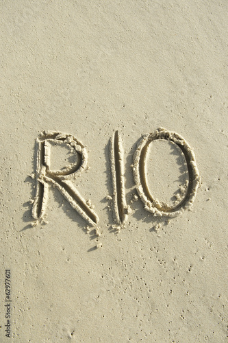 Rio Brazil Message Sand Beach