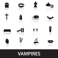 vampire icons eps10
