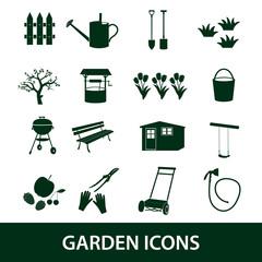 garden symbols icons eps10