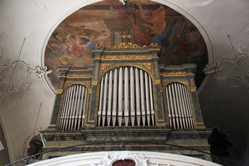 Pipe organ, Sanctuary of St. Agatha in Schmerlenbach