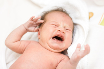 crying newborn baby girl