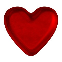 Red reflective shiny heart