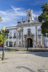 landmark church of the city of Faro, Portugal.