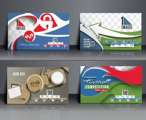 Set of Business Card Mock up Design
