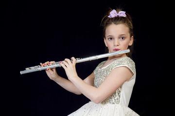 Girls Plays Flute