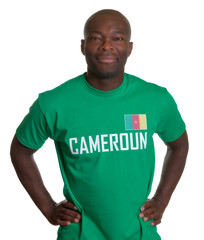 Smiling sports fan from Cameroon