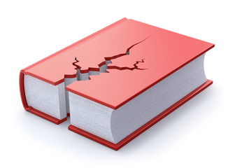 Cracked book