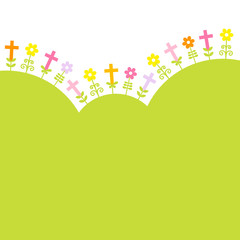 Confirmation Crosses & Flowers Meadow Green