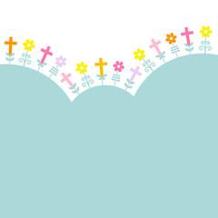 Confirmation Crosses & Flowers Retro