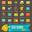 seo icons set part 2 Flat design modern vector illustration