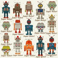 seamless Robot pattern,cartoon vector illustration