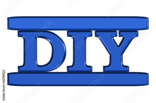 DIY sign in blue