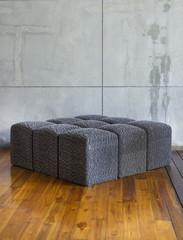 Modern sofa in empty room