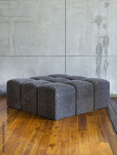 Modern sofa in empty room