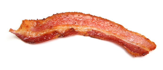 Cooked Bacon Strip Isolated