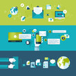 Set of flat design vector illustration concepts for email