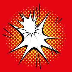 Comic Style Explosion Effect Isolated On Background