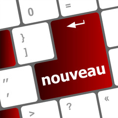 nouveau button on computer keyboard key
