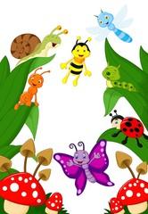 Small animals cartoon