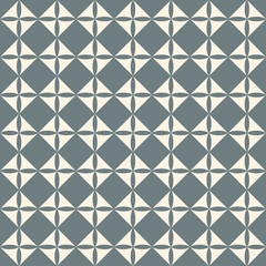 Geometrical square retro pattern seamless vector background.  Re