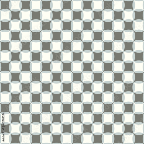 retro geometric quadrate seamless pattern