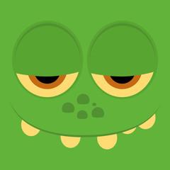 Funny Cartoon Character Face Illustration Editable
