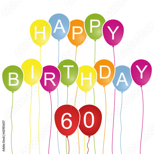 Happy Birthday Karte 60