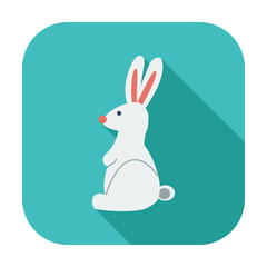 Rabbit single icon.