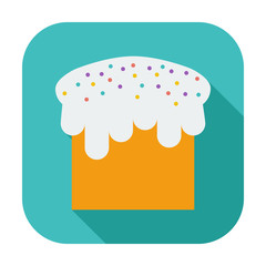 Easter cake single icon.