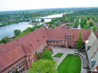 medieval castle on a river