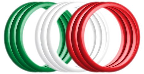 annelli tricolori 3D