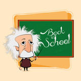 Albert Einstein Cartoon In A Classroom Scene poster