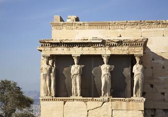 Erechtheion in Acropolis. Athens. Greece