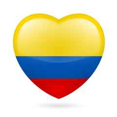 Heart icon of Colombia
