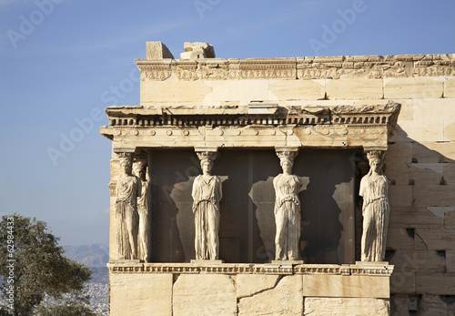Erechtheion in Acropolis. Athens. Greece