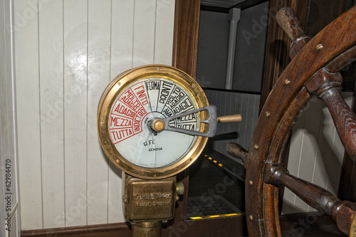 Old italian ship speed control
