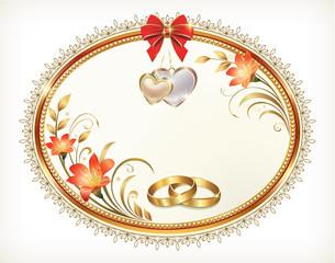 romantic postcard for wedding day