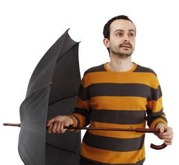 Man with umbrella