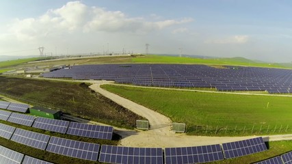 Vista aerea fotovoltaico