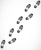 Shoe print trail vector - 62985604
