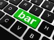 bar button on the digital keyboard, raster